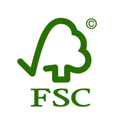 Pay attention to the FSC seal for wood products.